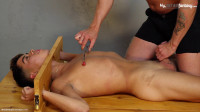 Angel is tied down and made to cum!