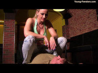 Young-femdom - The loan shark comes back