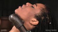 SexuallyBroken - Feb 12, 2016 -  Toned Kira Noir restrained in metal pipes and belt bondage