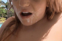 Redhead hit by a white load
