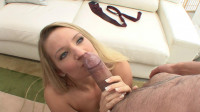 Blonde cutie loves experienced guys