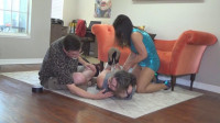His prude milf sister double teamed
