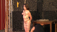 Another public Breast Suspension for Little Red Girl - HD 720p