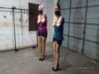 Sandra Silvers & Whitney Morgan - Tight Breast Bondage