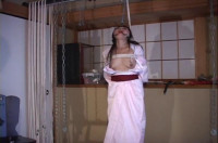Slaves cunt is very wet do Master uses Extreme bondage to punish her he starts with a whipping.