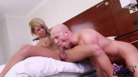 Japanese Ts beauty Miran tops her giant lover
