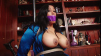 Busty Sexy Secretary Bound Gagged in the Library Maxine X