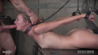 Hogtied and throated, rough throat fucking, with a squirting brutal orgasm!
