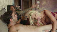 Brittany Andrews — Busty blonde milf cuckolds her husband (2019)