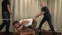 Marc - Sexy physical trainer restrained, arse belted, sphincter stretched