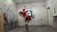 HunterSlair – Lexi Lane – Slutty coed strung up in a cruel breast bound strappado