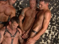 Six-man gangbang at sex club
