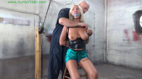 HunterSlair — Amanda Foxx — Hung up by her leather bound tits