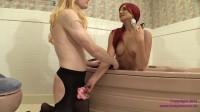 Sissy Danni in Chastity Serves Princess Amadahy in The Bath