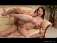 Chubby beauty getting covered in cum