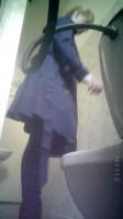 Hidden camera in the female toilet
