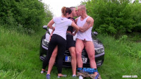 inside one blowjob (Horny Mixed Trio Pumping Their Asses)!