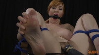 Red Head Spread Wide and Cumming - pussy, slut, cock, brutal, cocks