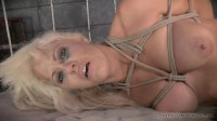 Busty blonde tightly tied and assfucked without mercy by huge black cock