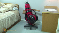 Femcar Bound in Gord's Famous Office Chair
