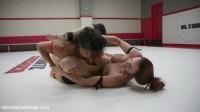 Beautiful big Tittied Wrestlers Struggle to make each other cum