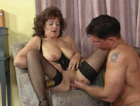 big breast matures having fun with young guys
