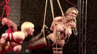 Bondage and torture for two women with big boobs