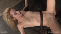 Odette Delacroix belt bound down and roughly fucked by giant black cock