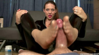 Secret Agent Sadie Holmes Footjob Interrogation