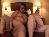 Huge lesbian whores masturbate together