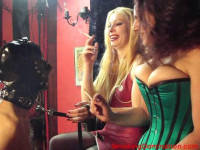 Mistress Lydia Morgan And Mellie D Smoking Domination