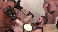 Meat anal orgy