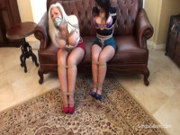 Silky MILF Real Estate Agent Team Bound, Gagged, Exposed, Groped