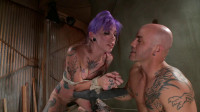 Fuckedandbound - 09-06-2013 - Young, tattooed slut gets fucked in all of her holes