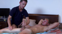 Straight Blond Liam Gets His First Blow Job