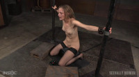 Toned all natural Mona Wales shackled onto sybian (orgasm, throat, tight pussy, orgasms)