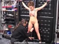 Torture of women, ie piercing needles and harpoons breasts, so krovischa gushing