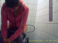 Hidden camera in the student toilet Part 10 (2016)