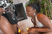 Fat Ebony Chick Gets Her Twat Drilled