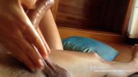 beautiful fit girl rubs