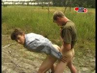 Outdoor fuck with sex-starved young lads