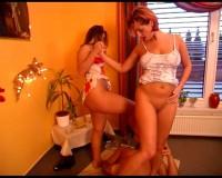 Slave punishing threesome