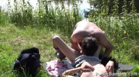 Good sex in the nature near the lake