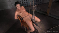 a hot woman bound on the floor