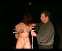 Girl bondage movies featuring beautiful submissive  women, bound Breast torture