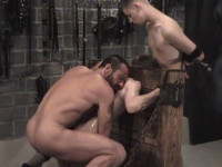 A three-way with Master Tyger and two twinks tied up perfectly.
