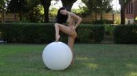 Sapphira A in Bike and Ball