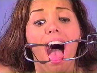 Even though shes tightly tied and gagged, she still keeps on moving
