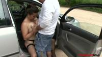 BBW Big tits mom, Doborah castinged public place