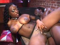 Big tit ebony jada in fishnet nailed by bbc